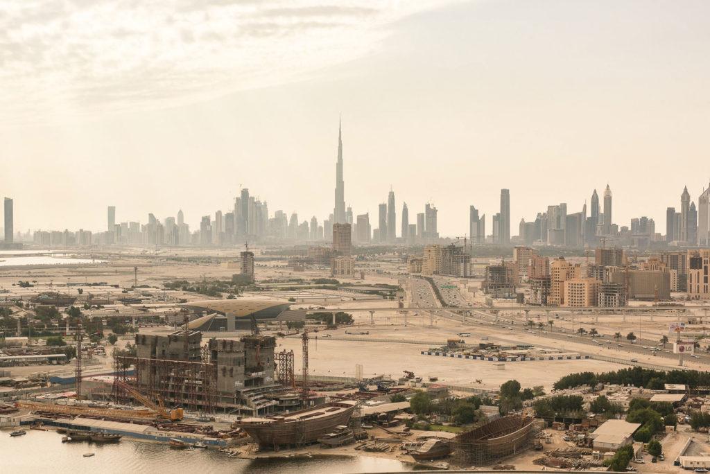 Dubai on the horizon