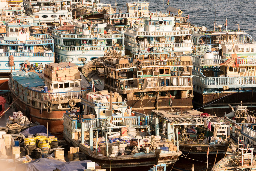 Boats in old Dubai