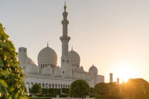 Sheikh Zayed Mosque sunset