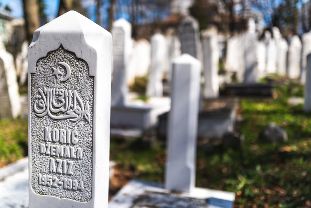 Graves of War Victims in Sarajevo