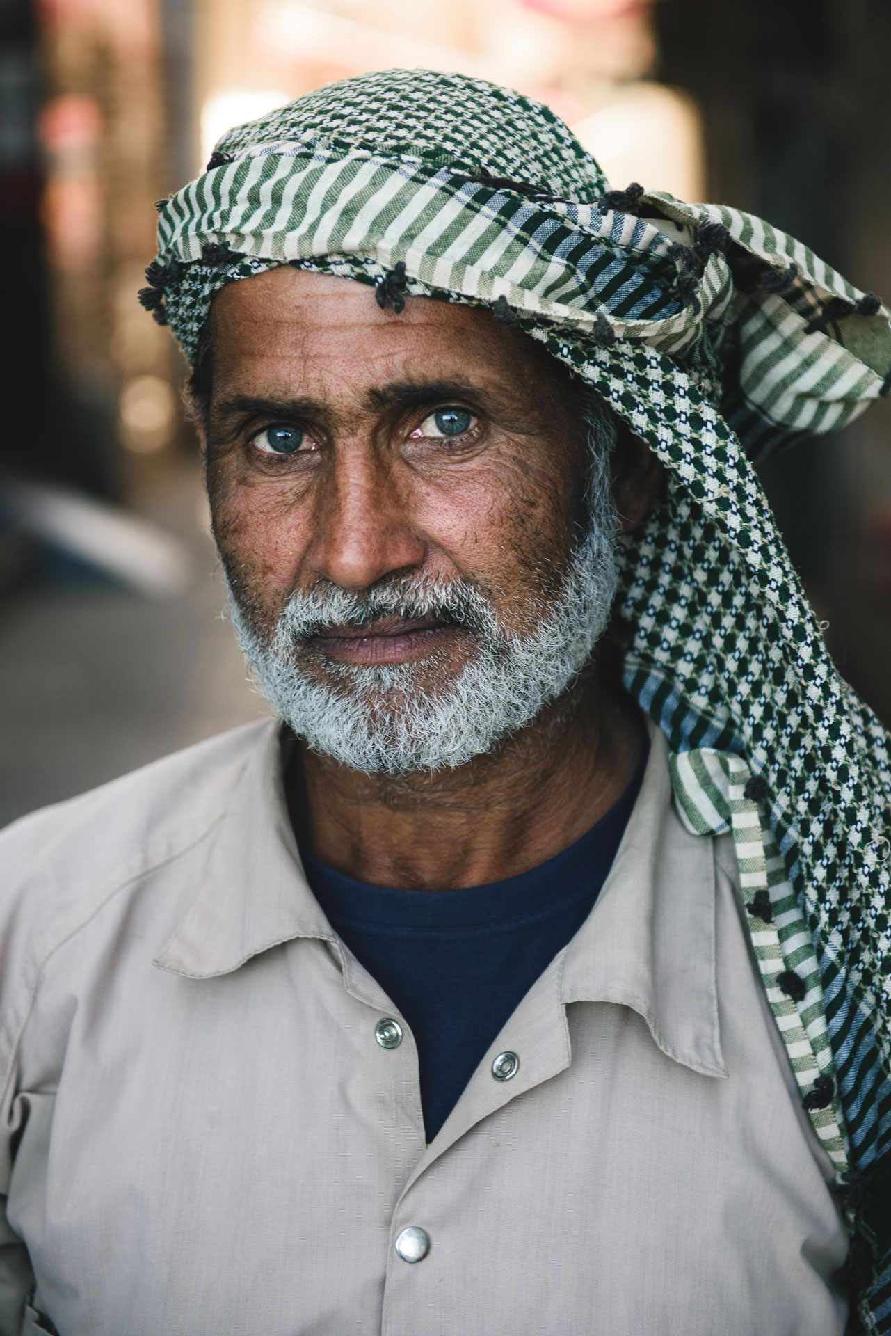 Portrait of a dockworker in Dubai