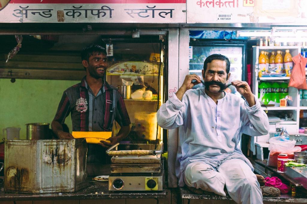 Man making fun in Mumbai