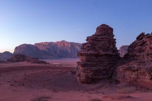 dusk in the red desert