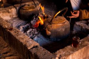 Tea in nomadic tents