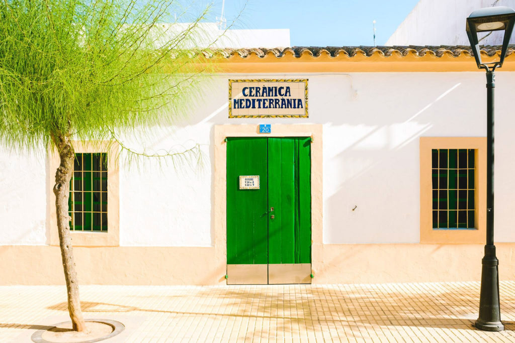 green street of Formentera