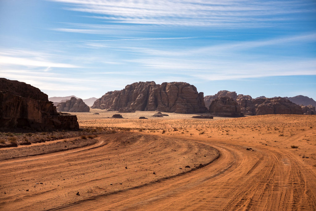 Deeper in the desert of Wadi Rum