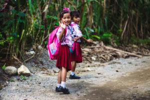 School kids of Bukit Lawang