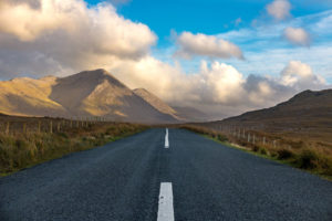 Traffic in western Ireland
